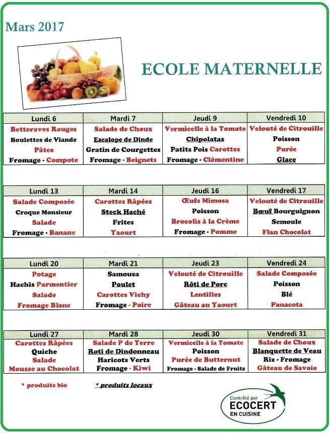 menu mart mars